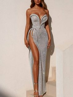 Sexy Tube Top Solid Color High Slit Dress - Sexy Tube Top Solid Color High Slit Dress – Stagesmile Source by browniebeauti - Glam Dresses, Elegant Dresses, Pretty Dresses, Sexy Dresses, Beautiful Dresses, Casual Dresses, Fashion Dresses, Dresses For Work, Wedding Dresses
