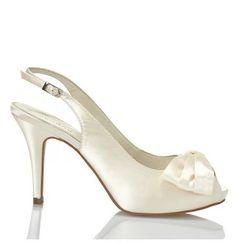Zapatos de Novia Peep Toe destalonado modelo Kaila de Menbur ➡️ #LosZapatosdetuBoda #Boda