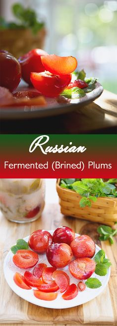 Russian Brined Plums