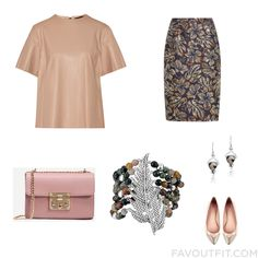 Ootd Advice Including Belstaff Top Brown Skirt Shoulder Bag And Rose Jewelry From September 2016 #outfit #look