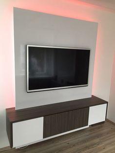 Tv wand selber bauen ideen  Idee: TV-Wand aus Laminat | Zukünftige Projekt | Pinterest | TV ...