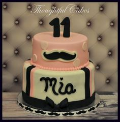 Girly Mustache Cake...cake idea for Addie but in orange