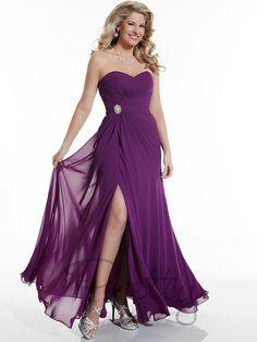 Christina Wu 22625 Bridesmaid Dress Empire Waist Side Gather Slit Skirt