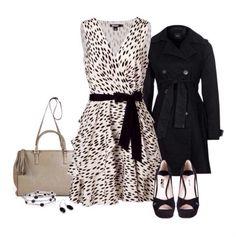 Animal no puede faltar! El negro siempre será elegante. Outfit para primavera!