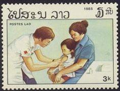 Postage stamp honoring nurses