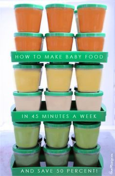 How to make homemade baby food in 45 minutes a week and save 50 percent