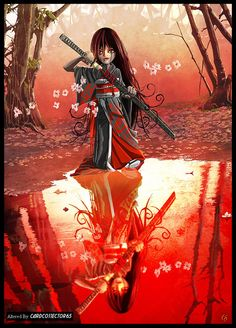 Samurai Warrior Girl - MTG