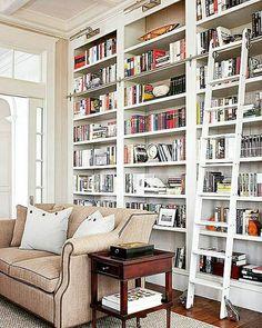 window seat bookshelf cabinet instagramcom bbookss library ladder bookcase with design detail lights built ins biblioteca living