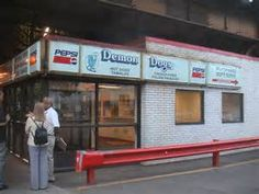Demon Dogs. Named for DePaul's basketball team, the Blue Demons, they served delicious Chicago hot dogs, steak fries, and shakes. The walls were covered with memorabilia from the rock band Chicago. I used to grab a quick bite to eat here before class.