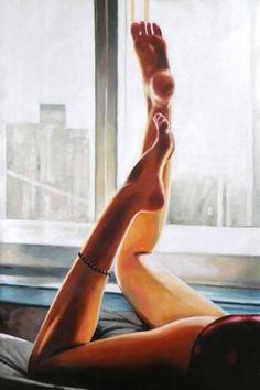 "Saatchi Art Artist Thomas Saliot; Painting, ""Thank god for women legs"" #art"