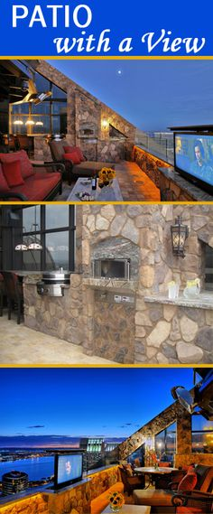 Patio with a view. Outdoor kitchen with Evo Circular Cooktop!