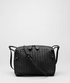 Nero Intrecciato Nappa Cross Body Bag - Women's Bottega Veneta® Crossbody Bag - Shop at the Official Online Store