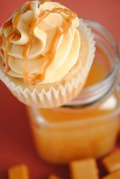 Apple Cider Cupcakes with Salted Caramel Buttercream