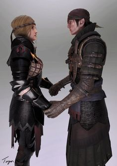 Iorveth and Saskia - Together by Toyen-Art.deviantart.com on @DeviantArt