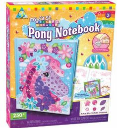 The Orb Factory My First Sticky Mosaics Pony Notebook by The Orb Factory. $9.99. Great for play dates and birthday parties. New for 2011. Complete 1 notebook with all the ease of sticky mosaics. 1 notebook with 120 pages, unicorn story included, 250+ colorful sticky foam and jewel pieces. The award winning line of sticky mosaic craft kits will delight all ages and all skill levels. From the Manufacturer                Capture your thoughts and imagination in t...
