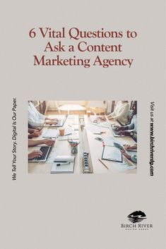 Need help finding the best agency that can produce high quality content for your business? Asking the right questions can help! #contentmarketingagency #digitalmarketing #BrichRiverDesigGroup Asking The Right Questions, Questions To Ask, Content Marketing, Digital Marketing, Digital Story, Business Tips, Inbound Marketing
