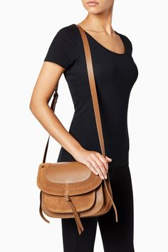 Buy Tan Leather Saddle Bag from Next Australia