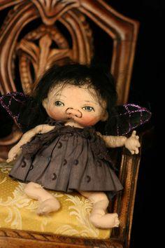 Nixi  little fairy by doll artist Jan Shackelford