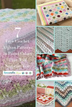 7 Free Crochet Afghan Patterns in Pastel Colors That Will Surprise You