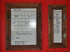 white boards in frames