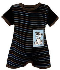 Blue Dog Short Romper - 3 - 6 months