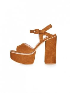 Topshop Lilith Suede Chunky Sandals
