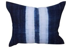 We knew Erica (editor-in-chief of Honestly WTF) would fall head over heels for this vintage blue-and-white dyed vintage linen pillow!