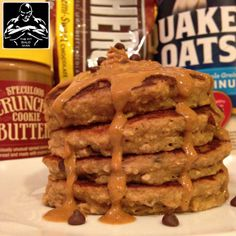 cookie butter chocolate chip pancakes - THE FIT BALD MAN