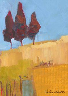 Red Trees Original Painting