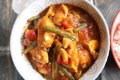 Kip stroganoff met paprika, champignons en haricoverts - De keuken van Ursie