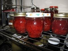 Allerlei lekkere jamcombi's Custard, Preserves, Pickles, Salsa, Food And Drink, Jar, Homemade, Canning, Recipes