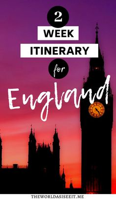 The Perfect 2 Week Itinerary for England - - Are you planning a trip to England? Let me help you plan the perfect vacation with my England 2 week itinerary that will take you to all the best places. Backpacking Europe, Europe Travel Guide, Travel Guides, Travelling Europe, Travel Uk, Travel Info, Travel Advice, Time Travel, Europe Destinations
