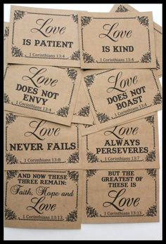 Image result for 1 corinthians 13 wedding craft ideas