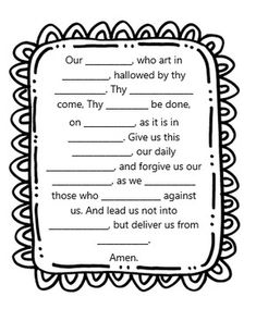 Prayer Notes for Kids. PDF printable. Instant download