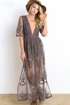 gemma lace maxi dress in midnight lavender, boho inspired bridesmaids dress
