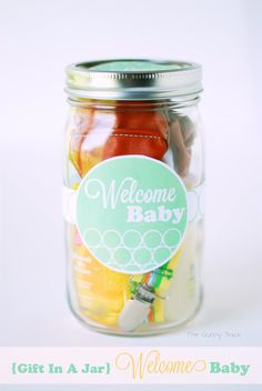 Welcome Baby Gift In A Jar