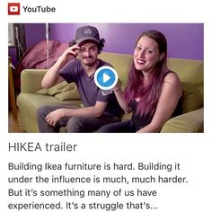 "#regram via @copromote ""'HIKEA' webseries showcases people building #IKEA furniture while on drugs ow.ly/jhG03037EcL via @dailydot #hikea"""