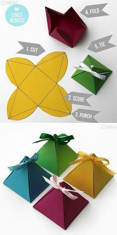 Handmade DIY pretty picture origami paper art three-dimensional pyramid pyramid gift box is very simple . Christmas Gift Wrapping, Christmas Crafts, Christmas Tree, Gift Wrapping Tutorial, Wrapping Ideas, Wrapping Gifts, Papier Diy, Origami Paper, Diy Origami