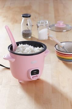 Urban Outfitters Mini Rice Cooker    pink, pink things, pink color, light pink, dark pink, pink aesthetic, pink appliances ( affiliate )