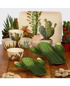 Cactus Decor, Cactus Art, Cactus Gifts, Cactus Ceramic, Desert Art, Christmas Plates, Dessert Bowls, Simple Art, Clay Projects