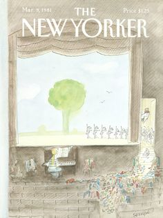 The New Yorker, March 9, 1981. Cover by Jean-Jacques Sempé.
