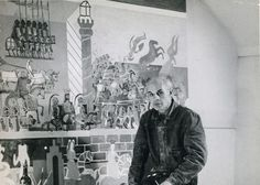 Edward Bawden - Canterbury Tales Murals, Morley College