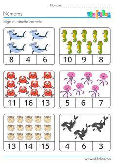 que numero es verano  #kids #vacation #holidays #activities #worksheet #numbers  http://www.edufichas.com/actividades/matematicas/numeros/elegir-el-numero/que-numero-es/