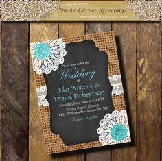 Hey, I found this really awesome Etsy listing at https://www.etsy.com/listing/230039832/burlap-doily-wedding-invitation