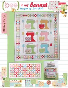 Mixing It Up Quilt Beater Block Runner and Cookie Jar por LoriHolt, $14.00