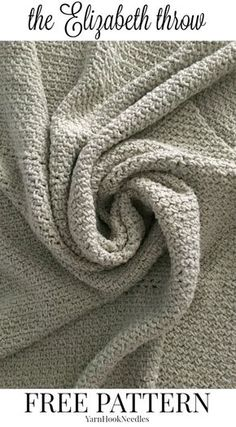 The Elizabeth Throw with a FREE Crochet pattern! - yarnhookneedles -