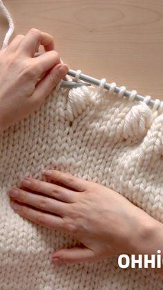 Knitting Basics, Easy Knitting Patterns, Arm Knitting, Knitting Stitches, Crochet Patterns, Knitting Ideas, Knitting Designs, Herringbone Stitch Knitting, Knit Crochet