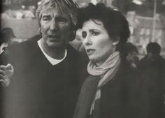 Emma Thompson and Alan Rickman while filming The Winter Guest in the East Neuk