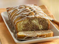 Gluten Free Cinnamon Roll Pound Cake with Vanilla Drizzle
