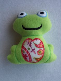 Stuffed Plush Frog Toy. $6.50, via Etsy.